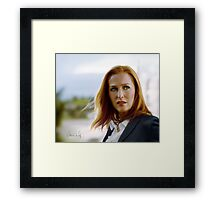 Scully in the wind Framed Print