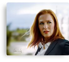 Scully in the wind Canvas Print