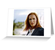 Scully in the wind Greeting Card