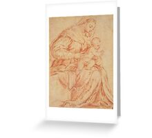 Enthroned Madonna and Child Greeting Card