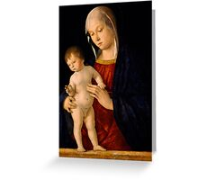Madonna with the Child Blessing Greeting Card