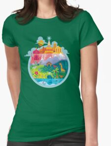 Small World Womens Fitted T-Shirt