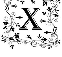 Letter X Leafy Border by kwg2200