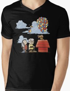 some Peanuts UP there Mens V-Neck T-Shirt