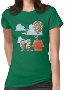 some Peanuts UP there Womens Fitted T-Shirt