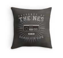 Property of NES (REMIX) Throw Pillow