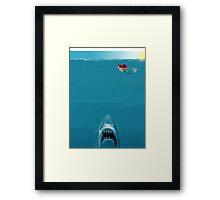 Ariel Meets Jaws Framed Print