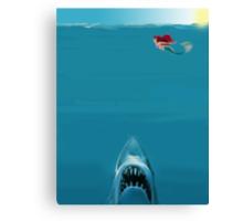 Ariel Meets Jaws Canvas Print