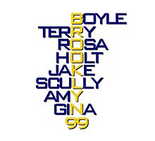 Brooklyn 99 Characters Photographic Print