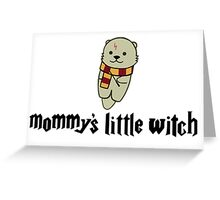 Mommy's Little Witch Greeting Card