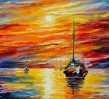 ALMOST MORNING by Leonid  Afremov