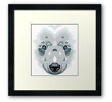 Bear white Framed Print
