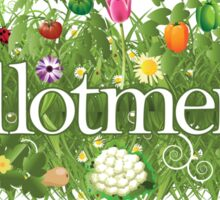 Allotment banner with grass, flowers and vegetables Sticker