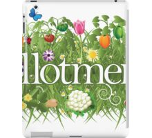 Allotment banner with grass, flowers and vegetables iPad Case/Skin