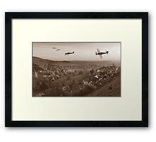 Butcher Birds in Fall - Sepia Framed Print