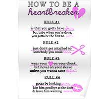 HOW TO BE A H E A R T B R E A K E R Poster