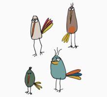 quirky birds Baby Tee