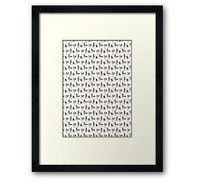 quirky birds Framed Print