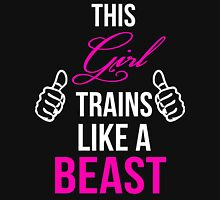 This Girl Trains Like a Beast (with thumbs) Womens Fitted T-Shirt