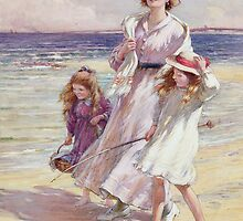 A Breezy Day at the Seaside by Bridgeman Art Library