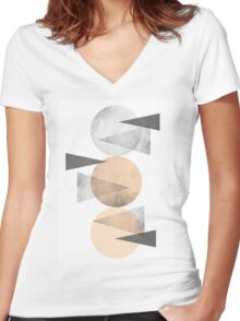 3 CIRCLES Women's Fitted V-Neck T-Shirt