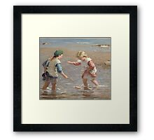 Playing in the Shallows Framed Print