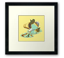 Drop it like it's warm Framed Print