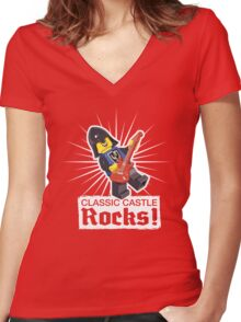 Classic Castle Rocks! Women's Fitted V-Neck T-Shirt