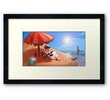 Olaf at the sea Framed Print