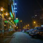 Night in Moscow - yellow store by Alexey Kljatov
