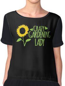 Crazy Gardening Lady Chiffon Top