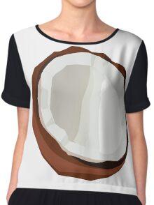 Coconut Vector Chiffon Top
