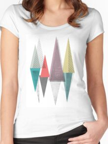 abstract tringles Women's Fitted Scoop T-Shirt