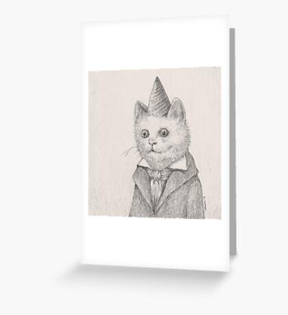 Birthday Kitty Greeting Card