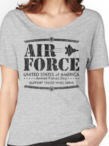 Armed Forces Day - USAF Air Force Black Women's Relaxed Fit T-Shirt