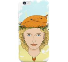 Fox and girl iPhone Case/Skin
