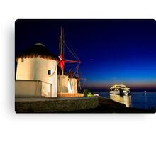 The windmills of Myconos Canvas Print
