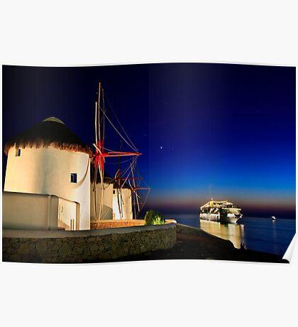 The windmills of Myconos Poster
