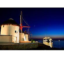 The windmills of Myconos Photographic Print