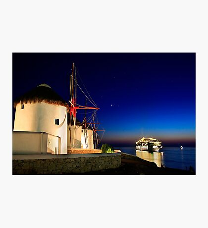 The windmills of Myconos Photographic Print