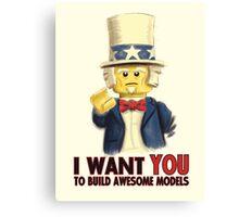 Lego Uncle Sam Canvas Print