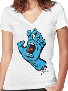 santa cruz Women's Fitted V-Neck T-Shirt
