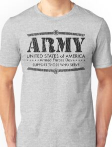 Armed Forces Day - Army Black Unisex T-Shirt