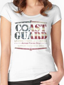 Armed Forces Day - Coast Guard Women's Fitted Scoop T-Shirt
