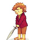 Brave Little Hobbit by taryndraws
