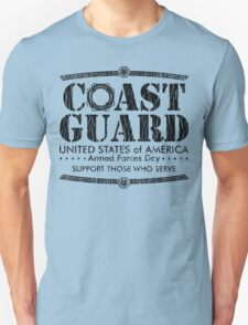 Armed Forces Day - Coast Guard Black T-Shirt