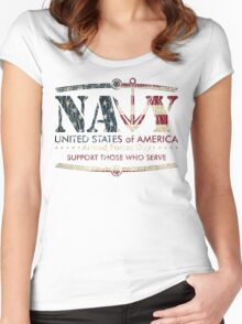 Armed Forces Day - Navy Women's Fitted Scoop T-Shirt