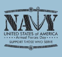 Armed Forces Day - Navy Black by andabelart