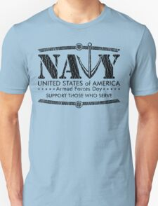 Armed Forces Day - Navy Black Unisex T-Shirt