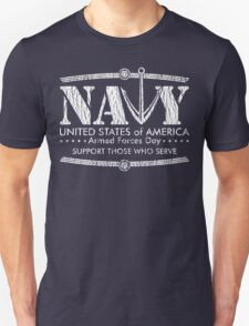 Armed Forces Day - Navy White T-Shirt